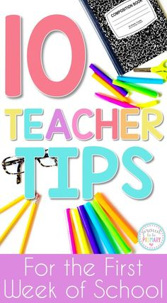 10 teacher tips for the first week of school that will help teachers have fun, while saving time and energy.  Tons of back to school classroom…
