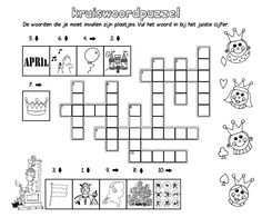 Kruiswoord puzzel [Jack Nowee] Diagram, Floor Plans, Snoopy, Training, Work Out, Education, House Floor Plans, Exercise, Work Outs