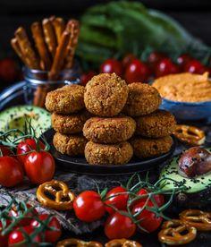 Leckere und gesunde vegane Linsen Couscous Taler - perfekt als Beilage oder als Snack für Zwischendurch - schmecken sowohl warm als auch kalt :-)