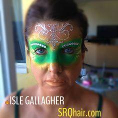 Dinair Airbrush makeup Masquerade  Mask by Isle Gallagher
