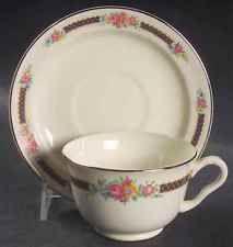 Hall BLUE BOUQUET PLATINUM TRIM Cup & Saucer 226304