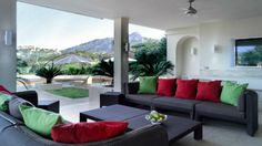 This is a stunning luxury villa located on the Los Naranjos Golf, Nueva Andalucia - Covered Terrace. Click/tap for more info.