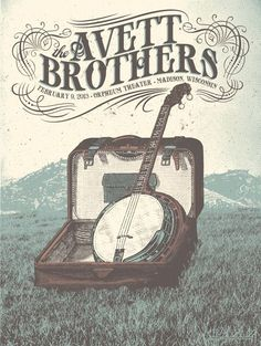 The Avett Brothers - live show poster. Madison, WI poster by Status Serigraph Tour Posters, Band Posters, Festival Posters, Concert Posters, Gig Poster, Indie Music, Folk Music, Between Two Worlds, Music Photo