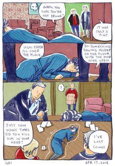 funny sherlock and john | sherlock sherlock holmes comic john watson lestrade greg lestrade ...