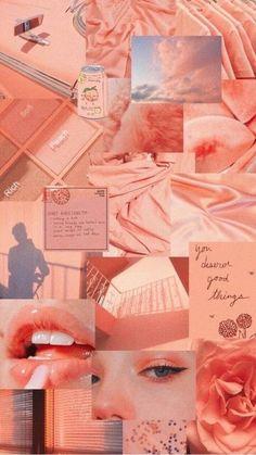 Ed Wallpaper, Peach Wallpaper, Pink Wallpaper Iphone, Iphone Background Wallpaper, Galaxy Wallpaper, Screen Wallpaper, Wallpaper Quotes, Peach Aesthetic, Aesthetic Colors