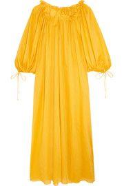 Almost a Honey Moon cotton-voile maxi dress