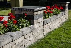 6 Creative Ideas For A Pallet of Quarry Stone Walls - Barkman Concrete Retaining Wall Blocks, Backyard Projects, Backyard Ideas, Precast Concrete, Outdoor Living, Outdoor Decor, Open Up, Pallet, Planters