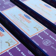 Sunrise Nag Champa Satya Incense. These smell FANTASTIC! Featured within our Litha Sabbat Box 2015 #midsummer #litha #summersolstice #wicca #wiccan #pagan #witchcraft #sabbat #sabbats