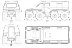 ATV 8x8 Shaman Reference Images, Cool Trucks, Cars And Motorcycles, Offroad, Survival, Miniatures, Templates, Drawings, Blue