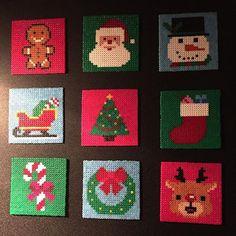 Christmas ornaments hama mini beads by christina_starup