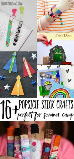Craft sticks are the perfect craft supply for summer camp - cheap and fun! Here's a list of popsicle stick crafts for summer camps - get some friends together and get crafty! Crafts For Teens To Make, Easy Arts And Crafts, Arts And Crafts Projects, Crafts To Do, Diy Projects, Arts And Crafts For Kids For Summer, Crafts Cheap, Quick Crafts, Summer Camp Art