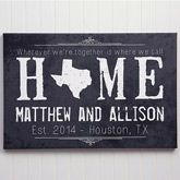 Personalized Canvas Prints - State of Love - Small - Wedding Gifts