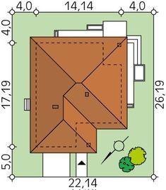 Projekt domu MT Ariel paliwo stałe CE - DOM - gotowy koszt budowy Little House Plans, Dream House Plans, Village House Design, Village Houses, Simple House Design, Roof Design, Closet Designs, House Roof, Ariel