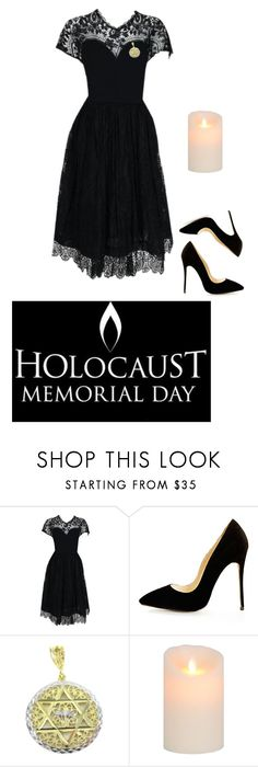 """✡️national holocaust remembrance day✡️"" by the-mighty-kc ❤ liked on Polyvore featuring Pauline Trigère"