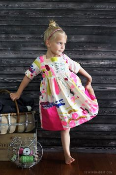 The Sally Dress in Nani Iro // kids fashion - kids clothing - outfits Fashion Kids, Little Girl Fashion, My Little Girl, Little Girl Dresses, Flower Girl Dresses, Toddler Fashion, Outfits Niños, Kids Outfits, Toddler Outfits