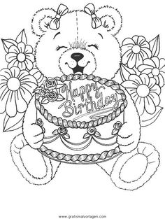 Birthday Coloring Pages Worksheets Birthdays and Happy birthday