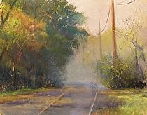 Out the Gate and Down the Road by Gil Dellinger Pastel ~ 16 x 20 original fine art, original landscape paintings, artwork for the home, home decor, Gil Dellinger, nature paintings, river paintings, tree paintings