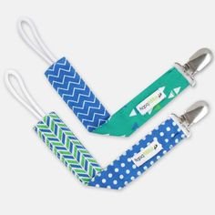 Don't want to loose that pacifier or have it fall on the floor? These pacifier clips are perfect for just that purpose! The blue, teal and green pattern make for a stylish baby on top of everything else! ONLY $9.99, plus FREE shipping!
