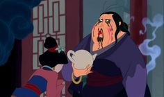BEAUTIFUL. Can I just point out Mulan was talented enough to put out the fire on the matchmaker's butt while splashing her in the face? Just saying...
