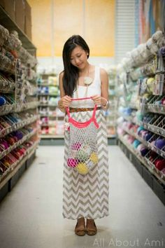 5. Crochet Mesh Bag - All About Ami