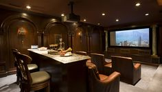 Luxury Home Theater| Luxury Entertainment Room by HalehDesign, via Flickr