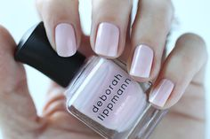 Deborah Lippmann Spring 2015 Chantilly Lace Swatch - Pink Shimmer Nail Polish