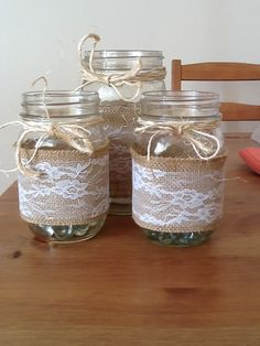 My mason jar centerpieces