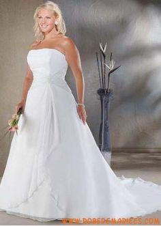 Robe de mariée grande taille bustier