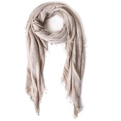 Faliero Sarti Cream Yola Basic Silk-Blend Scarf featuring polyvore, fashion, accessories, scarves, cream shawl, faliero sarti, faliero sarti scarves and wrap shawl