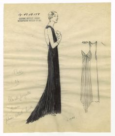 Bergdorf Goodman sketches : Patou 1930-1940. 1930-1940. Bergdorf Goodman sketches : Patou 1930-1940. Costume Institute. Bergdorf Goodman sketches, 1929-1952 Costume Institute. #dolledup #beauty | Style is personal.