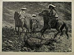 Río escondido — Leopoldo Méndez, México, 1948.