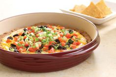 Touchdown Taco Dip is easy, cheesy, and perfect for a game day party.