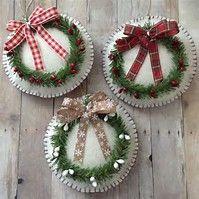 Image result for Felt Christmas Ornament Wreath