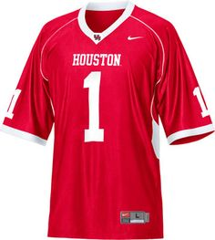 132aa90d4b5 Houston Cougars Football Jersey  Nike Red Replica Football Jersey Houston  Rockets