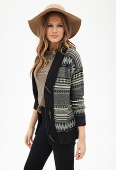 Shirt color with black jeans Contemporary Striped Toggle Cardigan | Forever 21 - 2000059219