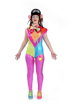 a7c70776af8e State of Disarray! Turquoise & Pink Tropical - Hooded Leotard  #stateofdisarray #recklessfashionrevolution #