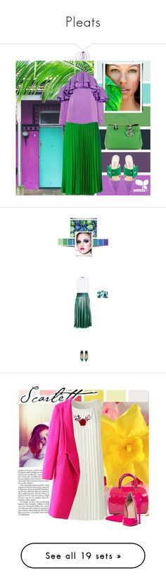 """""""Pleats"""" by rastaress-motso ❤ liked on Polyvore featuring Attico, Christian Dior, P.A.R.O.S.H., Emilio Pucci, Marissa Webb, Gucci, René Caovilla, Lands' End, Bling Jewelry and Louis Vuitton"""