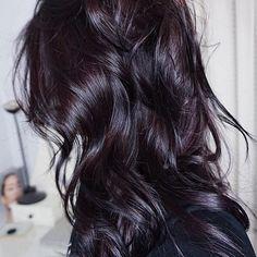Midnight Violet Hair Color 11049 21 Best Dark Violet Hair Images In 2017 - Hairstyle ideas Dark Violet Hair, Violet Hair Colors, Hair Color Purple, Hair Color And Cut, Brown Hair Colors, Dark Plum Brown Hair, Dark Fall Hair, Purple Black Hair, Subtle Purple Hair