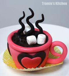 """Hot chocolate"" CUPcake"
