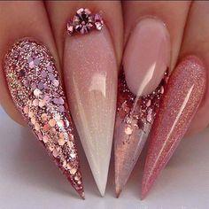 Adorable Rose Gold Ombré nails 2019