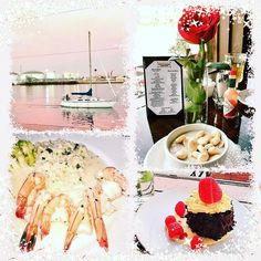 Clam Chowder Seafood Chocolate Cake and a Pink Sunset....Magical!! http://ift.tt/1ORa3TK #foodie #foodies #yummo #yummy #yum #yumm #yummm #sailboat #sunsets #sunset #restaurant #restaurants #finedining #music #iphoneonly #iphone #musician #musicians #musicislife #singer #singers #singersongwriter #songwriter #luxe #fab #fabulous #record #records #recording #artist by _evien_