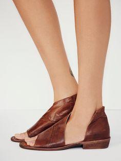 open toe side slit sandal