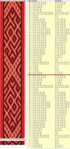 26 tarjetas, 3 colores, repite cada 44 movimientos // sed_966a diseñado en GTT༺❁