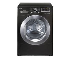 LG Eco Hybrid Dryer recycles the hot air after removing the moisture from it. Tumble Dryers, Neutral Kitchen, Home Technology, Heat Pump, Going Home, Black House, Back To Black, Washing Machine
