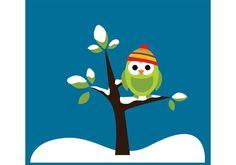 Winter Owl Owl Vector, Vector Art, Cute Owl Cartoon, Art Images, Clip Art, Seasons, Disney Characters, Winter, Illustration