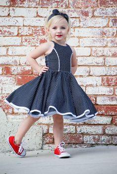 Sandra Dee's Rockabilly Swing Dress Sizes to 14 Kids PDF Pattern Sandra Dee's Rockabilly Swing Dress PDF Pattern Frock Design, Baby Dress Design, African Dresses For Kids, Little Girl Dresses, Girls Dresses, Little Girl Dress Patterns, Pageant Dresses, Baby Frocks Designs, Kids Frocks Design