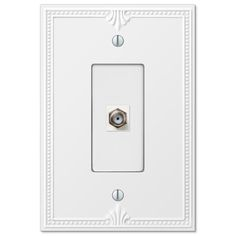 Amerelle White 1 Gang Coaxial Wall Plate 1 Pack 38cxw Plates On Wall Wall Home Depot