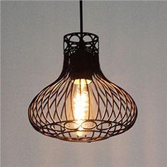 10'' Wide Matte Black Vintage 1 Light Cage Mini Pendant
