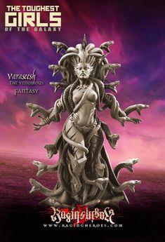 Varaseesh, The Venomous (LE – Fantasy) - Raging Heroes Polymer Clay Sculptures, Sculpture Clay, Ceramic Sculptures, Elves Fantasy, Tough Girl, Game Workshop, Beautiful Fantasy Art, Fantasy Miniatures, Mini Paintings