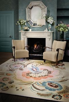 Deco Collection by Catherine Martin for Designer Rugs / Floral rug